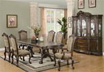 Andrea 7 Piece Dining Set in Brown Cherry Finish by Coaster - 103111