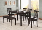 6 Piece Dining Set in Rich Cappuccino Finish by Coaster - 103191