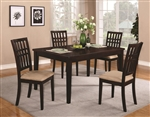 5 Piece Dining Set in Dark Cherry Finish by Coaster - 103341