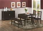 4 Piece Dining Set in Cappuccino Finish by Coaster - 103371