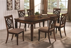7 Piece Dining Set in Oak Finish by Coaster - 103391