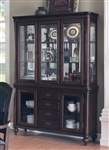 Anson Buffet & Hutch in Rich Brown Finish by Coaster - 103464