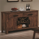 Maddox Server in Rustic Oak Brown Finish by Coaster - 103475