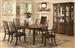 Avery 7 Pc Dining Table Set in Brown Oak Finish by Coaster - 103541