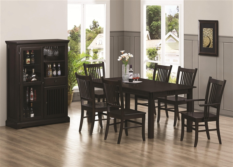 Marbrisa 7 Piece Dining Set In Rich Cappuccino Finish By Coaster   103551