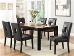 Timothy 7pc Dining Set w/ Black, Red, or White Chairs in Two Tone Finish by Coaster - 103611