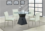 Ophelia 5 Piece Round Glass Top Dining Set by Coaster - 103731