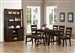 Julius 6 Piece Dining Set in Rustic Walnut Finish by Coaster - 103761