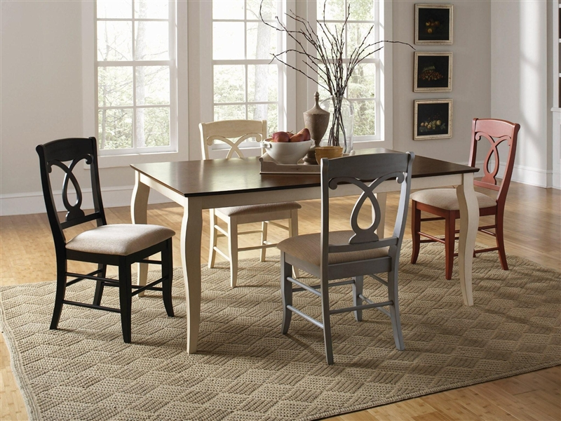 holland dining set in two tone finishcoaster - 103821