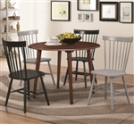 Emmett 5 Piece Round Dining Table Set in Light Walnut Finish by Coaster - 104000
