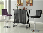 Black and Chrome Bar Table by Coaster - 104025