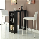 Cappuccino Finish Bar Unit Bar Table by Coaster - 104028