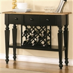 Ashley Server in Two Tone Black and Oak Finish by Coaster - 104035