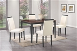 Pompeo 5 Piece Dining Set in Two Tone Finish by Coaster - 104051