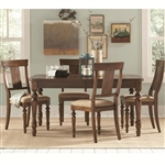 Jonas 5 Piece Dining Set in Rustic Brown Finish by Coaster - 104721