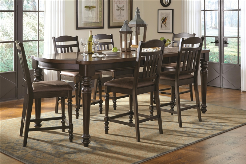 cabrillo counter height 9 piece cappuccino dining room table set costco with corner bench mulligan latte e