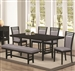 Lasalle 6 Piece Dining Set in Deep Merlot Finish by Coaster - 104921