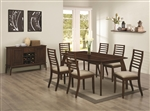 Stanley 5 Piece Dining Set in Cappuccino Finish by Coaster - 104951