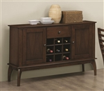 Stanley Server in Cappuccino Finish by Coaster - 104955