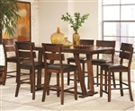 Avalon 5 Piece Counter Height Dining Set in Dark Amber and Coffee Bean Finish by Coaster - 105018
