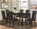 Plano Black Finish 5 Piece Dining Set with Crocodile Embossing by Coaster - 105021