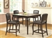Fischer 5 Piece Counter Height Dining Table Set in Espresso Finish by Coaster - 105231