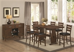 Urbana 5 Piece Counter Height Dining Set in Vintage Cinnamon Finish by Coaster - 105348