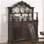Valentina Buffet and Hutch in Warm Brown Finish by Coaster - 105384