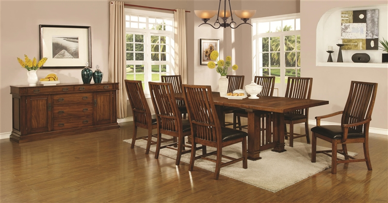 Beaumont 5 Piece Dining Table Set In Golden Brown Finish By Coaster   105451