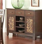 Brown Finish Server by Coaster - 105495