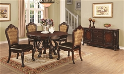 Abigail 5 Piece Traditional Dining Set in Dark Cherry Finish by Coaster - 105510