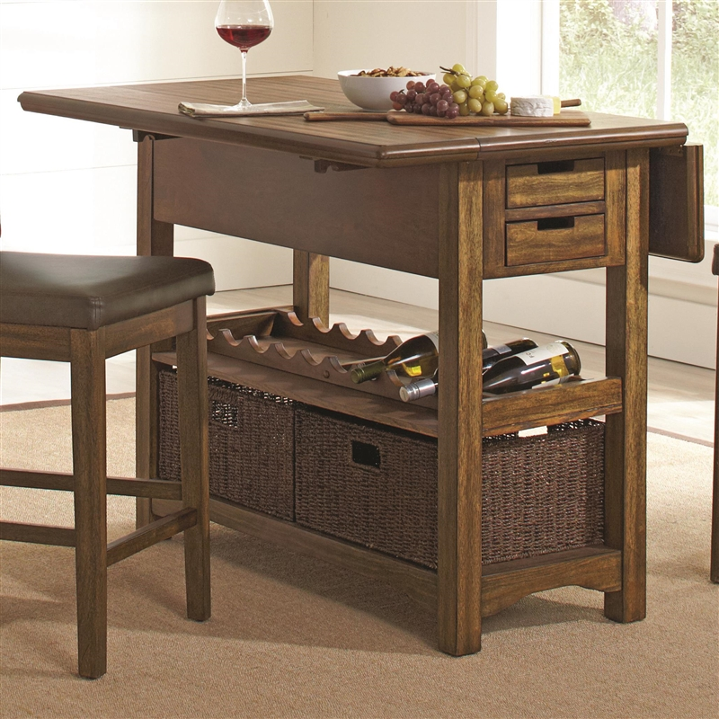 salerno 3 piece counter height kitchen island in wire