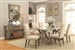 Webber 5 Piece Dining Table Set in Driftwood Finish by Coaster - 105571