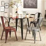 Bellevue 5 Piece Round Dining Table Set in Antique Rustic Finish by Coaster - 105610