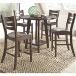 Byron 5 Piece Counter Height Dining Set in Dark Brown Finish by Coaster - 105638