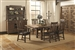 Padima 7 Piece Dining Set in Rustic Cognac Finish by Coaster - 105701
