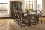 Padima 5 Piece Counter Height Dining Set in Rustic Cognac Finish by Coaster - 105708