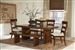 Montague 6 Piece Dining Set in Rustic Brown Finish by Coaster - 105981