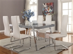 Giovanni 5 Piece Dining Set in Polished Chrome Finish by Coaster - 106011