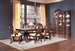 Jacques 7 Piece Traditional Dining Set in Dark Cherry Finish by Coaster - 106101