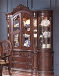 Jacques Buffet and Hutch in Dark Cherry Finish by Coaster - 106104