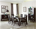 Middleton 5 Piece Dining Set in Cappuccino Finish by Coaster - 106161