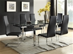 Wexford 5 Piece Dining Set in Polished Chrome Finish by Coaster - 106281-B