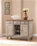 Riverbend Server in Antique Grey Two Tone Finish by Coaster 106305