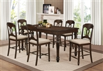 Hamilton 5 Piece Counter Height Dining Set in Antique Tobacco Finish by Coaster - 106358