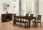 Wiltshire 5 Piece Dining Set in Rustic Pecan Finish by Coaster - 106361