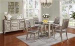 Bling Game 5 Piece Dining Set in Metallic Platinum Finish by Coaster - 106470