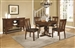 Abrams 5 Piece Round Dining Set in Truffle Finish by Coaster - 106480