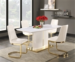 Cornella 5 Piece Dining Set in High Gloss Finish by Coaster - 106711