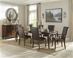 Williamsburg 7 Piece Dining Set in Rich Roasted Chestnut Finish by Coaster 106811-7